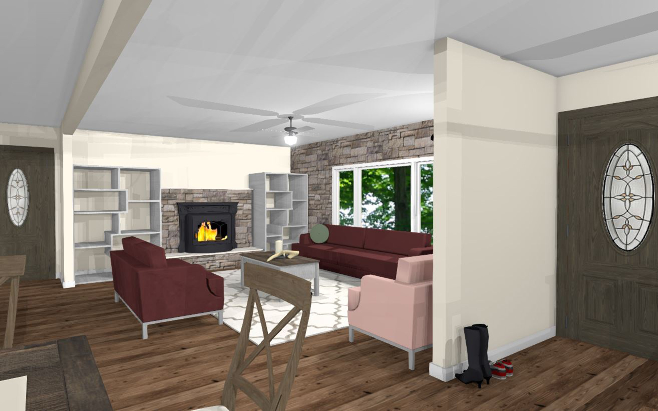 Langdon Family Room 3D